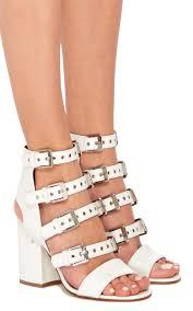 moda operandi kloe white calf leather buckle strap sandals by