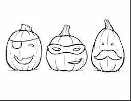 beautiful halloween pumpkin coloring pages to print with halloween