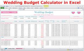 wedding budget wedding costs calculator excel wedding expenses worksheet