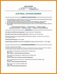 electrical engineering resume sample entry level electrical
