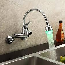 robinet de cuisine mural lookshop robinet de cuisine mural avec bec verseur et led