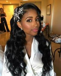 pic of black women side swept bangs and bun hairstyle 43 black wedding hairstyles for black women