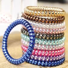 bracelet maker with rubber bands images Online cheap candy colored telephone line hair rope fashionable jpg