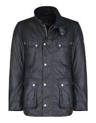 barbour international men u0027s duke waxed jacket black country attire