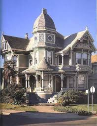 American Victorian House Architecture Painting Design Style Queen - Architectural home design styles