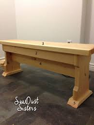 diy narrow coffee table or country bench tutorial sawdust sisters