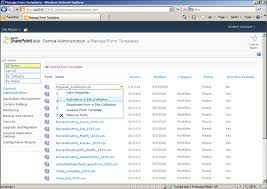 infopath with sharepoint 2010 central administration manage