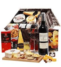 wine and cheese baskets wine cheese crackers deluxe wine baskets a deluxe