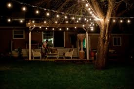 Under Awning Lighting Patio Commercial Outdoor String Lights With Wooden Awning For