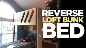 kid u0027s loft bunk bed flipped upside down makers on the move ep