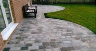 Slabbed Patio Designs Groundwork Monoblock Drives And Timber Fence Contractors