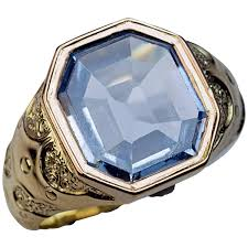 gold mens rings images 1870s antique russian sapphire gold men 39 s ring at 1stdibs jpg