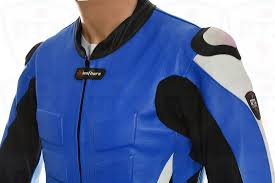 padded motorcycle jacket rtx akira blue leather motorcycle jacket