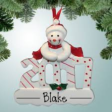 theme ornaments 2017 snowman personalized free