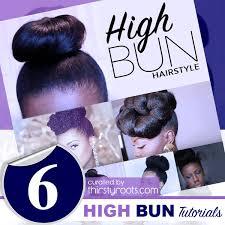 black hair buns 6 easy updo high bun hairstyle tutorials for black women