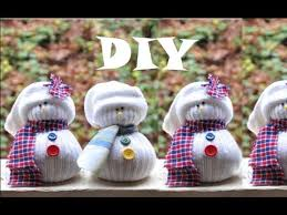 diy sock snowman project gift