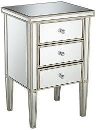 Silver Mirrored Bedroom Furniture 299 99antique Silver 3 Drawer Mirrored Nightstand 28