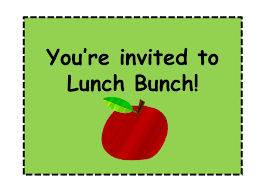 lunch invitation lattes laughter lunch bunch