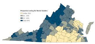 Blank Map Of Virginia by The Geography Of Virginia U0027s Presidential Primary Statchat