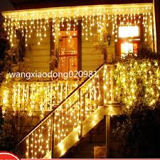 icicle warm white led lights 3m 100 led curtain for christmas
