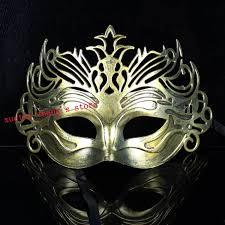 mardi gras mens mask vintage golden ancient gladiator crown mens mask mardi gras