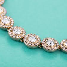 swarovski crystal gold plated bracelet images Angelic tennis bracelet with swarovski crystals bridal rose gold jpg