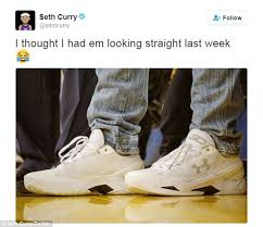 Sneakers Meme - twitter rips stephen curry s new under armour shoes daily mail online