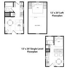 cabin plan 12x20 floorplans tiny home packages are available from