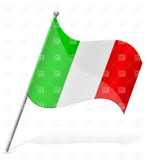 Italy National Flag Italian Wavy Flag Icon Royalty Free Vector Clip Art Image 38422