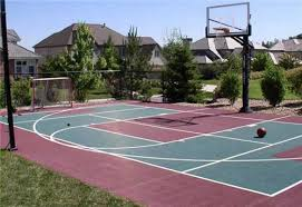 How To Build A Basketball Court In Backyard Stylish Ideas Basketball Court In Backyard Amazing 1000 Ideas