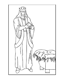 melchior the white bearded wise man coloring pages hellokids com