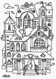 printable spooky house halloween coloring pages haunted house free printable haunted house