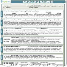 kansas lease agreement
