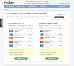 electronic gift cards cardpool speeds up gift card selling by removing the snail mail