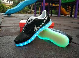 Nike Light Mens Nike Air Force One Light Up Shoes Black 36 45 Usa Nike