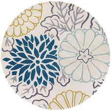 5ft Round Rug by Round Teal Rug Rugs Ideas