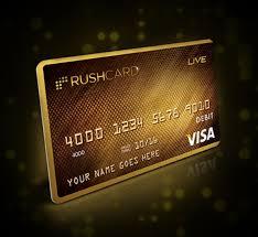 custom prepaid cards rushcard live prepaid visa debit card