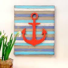 anchor wall art pallet nautical decor coastal decor beach by