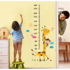 removable wall stickers vinyl wall art decals kids nursery quotes neat grow chart wall sticker