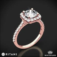 engagement rose rings images Ritani french set cushion halo diamond band engagement ring 4694 jpg