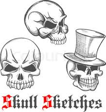 square skull icon for tattoo or jewelry design usage with old