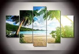 chambre de d馗ompression mur plage palmier groupe de peinture enfants chambre décor d