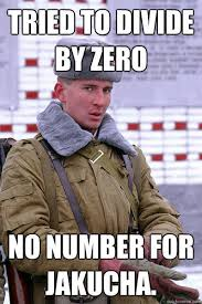Divide By Zero Meme - tried to divide by zero no number for jakucha quickmeme