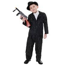 Pimp Halloween Costumes Childrens Kids Gangster Pimp Mobster Al Capone Fancy Dress