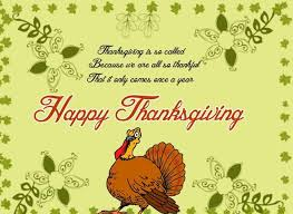 happy thanksgiving day blessings card