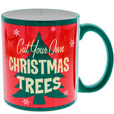 cut your own christmas trees coffee mug holiday mugs