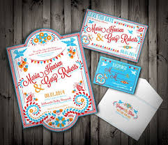 mexican wedding invitations mexican wedding invitation set colorful embroidery