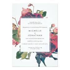 antique roses vintage boho wedding invitation zazzle