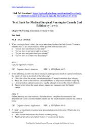 test bank for medical surgical nursing in canada 2nd edition by lewis
