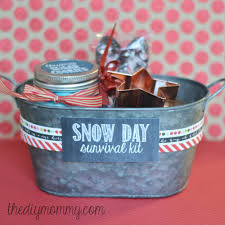 hot chocolate gift basket make a snow day survival kit christmas gift the diy